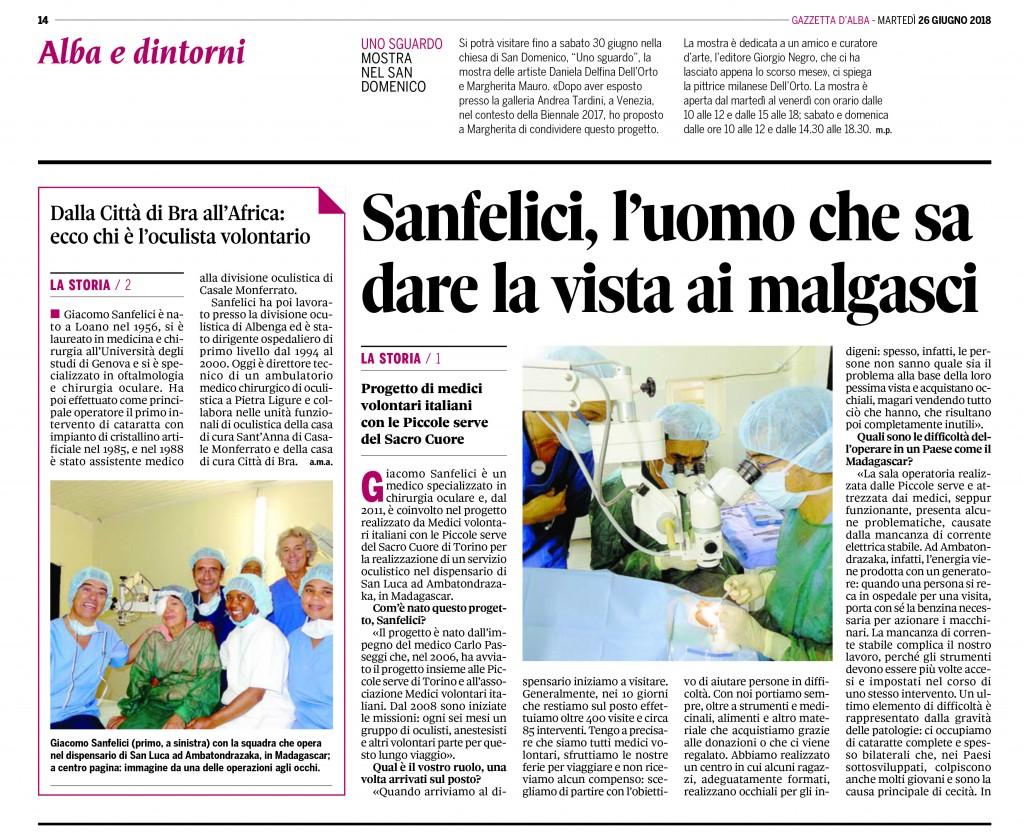 Articolo Sanfelici Gazzetta
